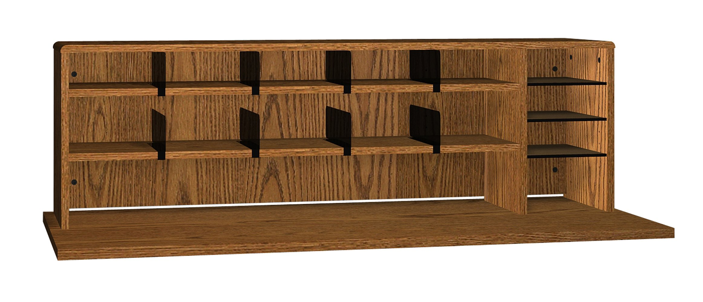 Ironwood High Capacity Desk Top Organizer, Dixie Oak (DTOHCDO)