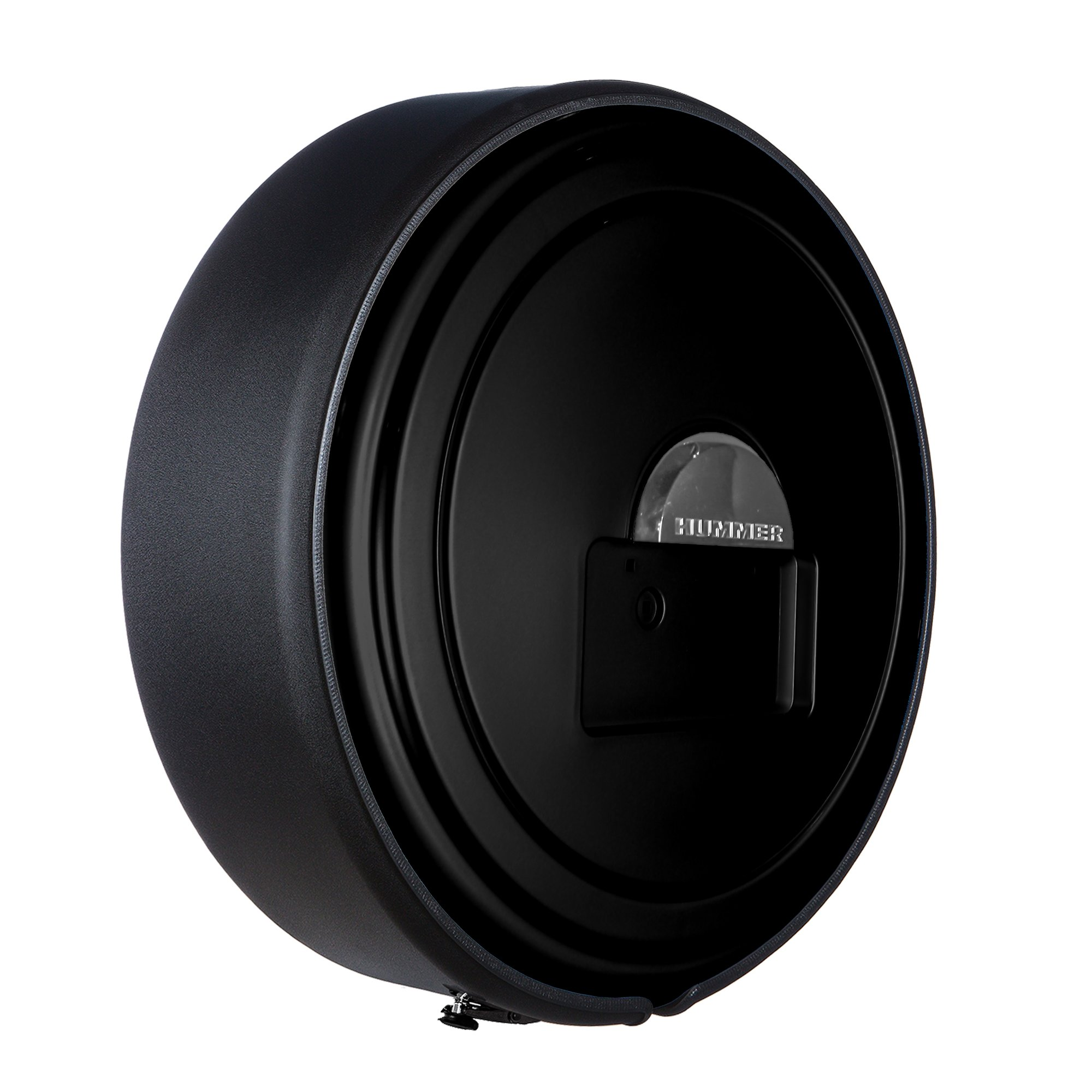 Hummer H2 (05-10) - MasterSeries Hard Tire Cover - (Painted Plastic Face & Black Powder Coated Steel Ring) - No Logo - Black