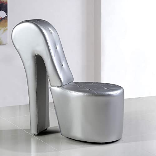 Best Master Furniture High Heel Faux Leather Shoe Chair