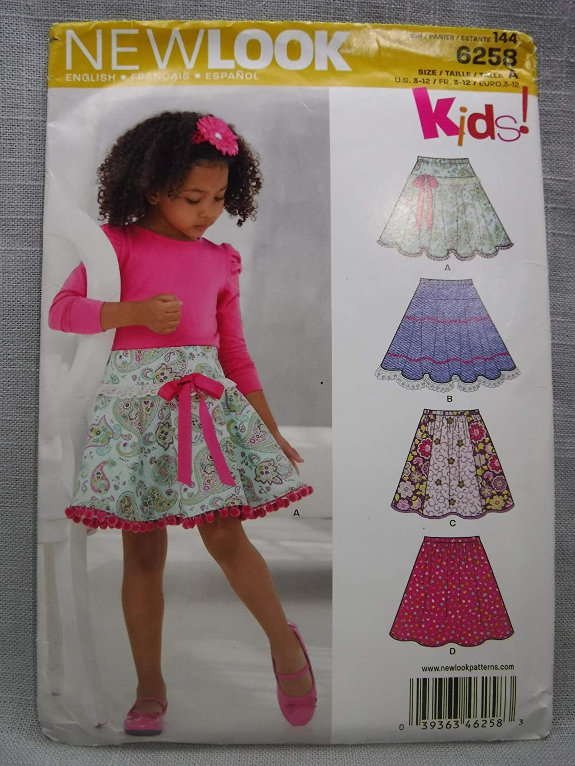 NEW LOOK SEWING PATTERN 6884 GIRLS 3-8 DRESS W// COLLAR /& SLEEVE OPTIONS /& SHORTS