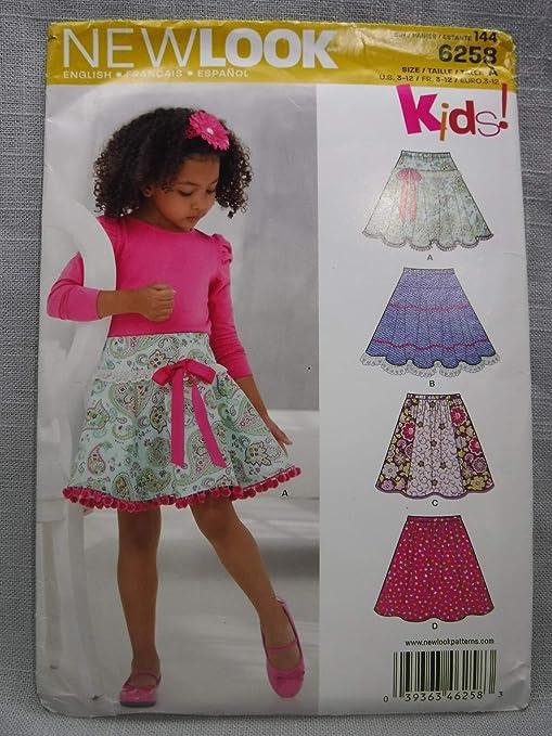 Simplicity Faldas Circulares para niñas y Adolescentes Talla A 3/4 ...