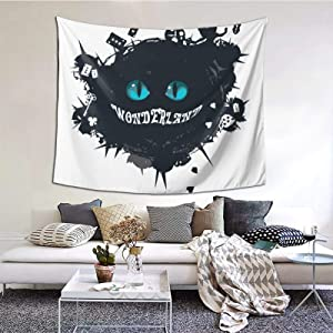 Alice In Wonderland Cheshire Cat Tapestry Wall Hanging Magic Tapestry For Home Decor Bedroom Living Room 60×51inch