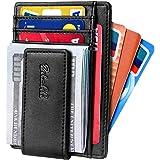 Zitahli Slim & Minimalist Bifold Front Pocket Wallet with Strong Magnet Money Clip for men,Effective RFID Blocking & Anti-mag