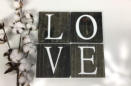 C us lmf379581 rustico in legno da parete piastrelle parola amore