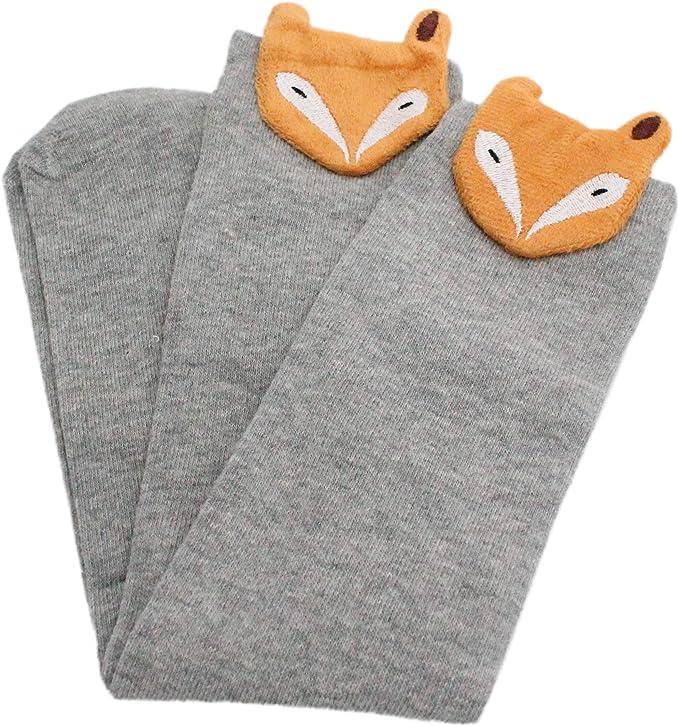 Calcetines de caña alta para disfraz de zorro con estrellas para ...