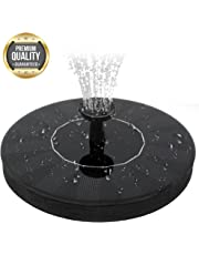 Apexan Solar Powered Floating Fountain, Outdoor Water Fountain, Water Aeration Pump for Pond, Pool, Garden, Fish Tank, Aquarium