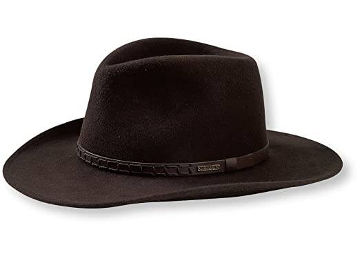 4a49009a004 Stetson Men s Sturgis Pinchfront Crushable Wool Felt Hat (X-Small ...