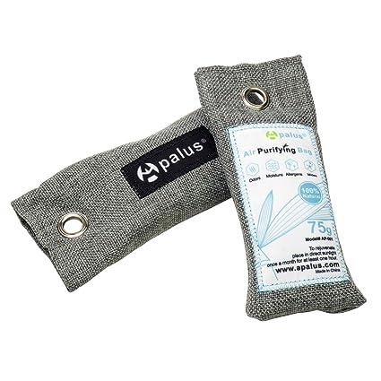 Apalus ® Bolsa De Carbón Activo De Bambú, Bolsa Desodorante para Zapatos, Deshumidificador Y Purificador De Aire. Elimina Humedad y el Olores De ...