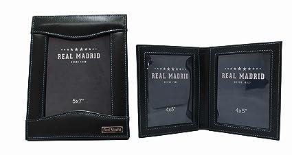 Estuche Gemelos -Real Madrid Premium de Piel- Caja para Accesorios, Pines, Sujeta