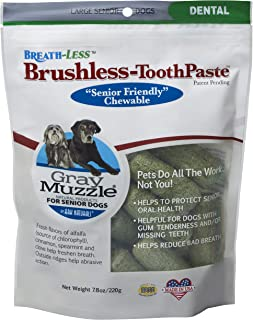 product image for ARK Naturals Ark-4710064-1 Gray Muzzle Brushless Tooth Paste Chewable Dental Treats for Dogs,