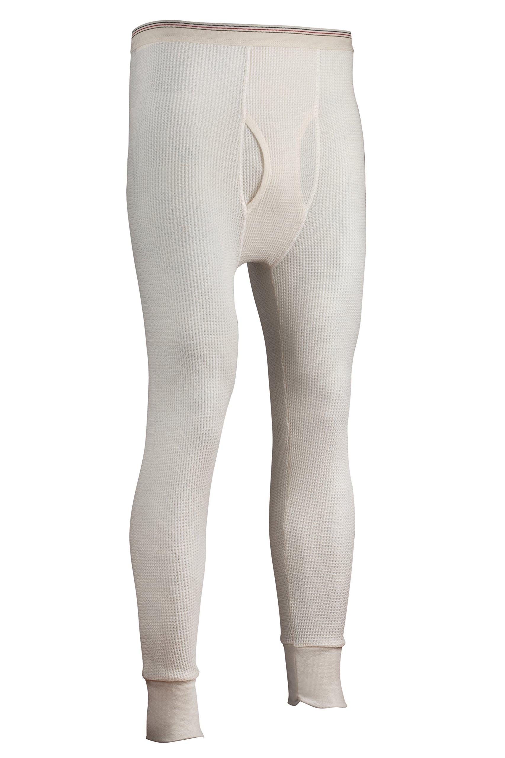 Indera Men's Tall Traditional Long Johns Thermal Underwear Pant, Natural, 3X-LargeTall by Indera