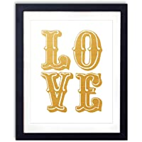 Gold Foil - Love Upcycled Wall Art Vintage Dictionary Art Print 8x10 inches / 20.32 x 25.4 cm Unframed