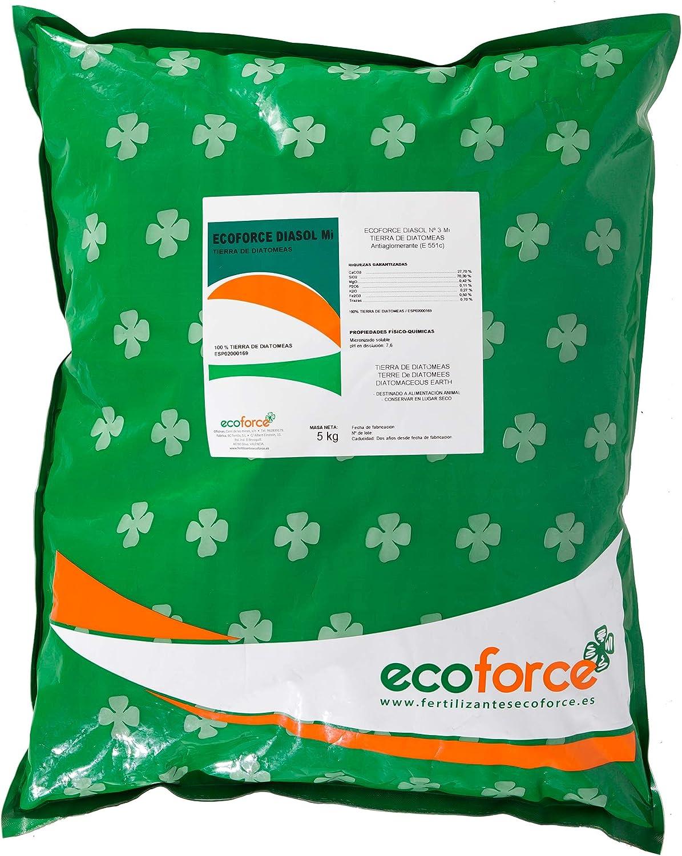 CULTIVERS Tierra de Diatomeas 5 kg Micronizada. 100% Natural y Ecológico. No calcinada de alta pureza, sin tratamientos ni residuos. Grado alimenticio E55IC