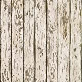 Chesapeake HTM13282 Grendel White Faux Weathered Wood Wallpaper