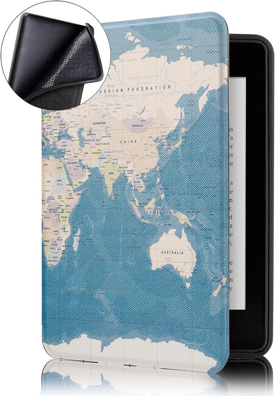 Capa mapa mundi para Kindle 10ª geração - Amazon