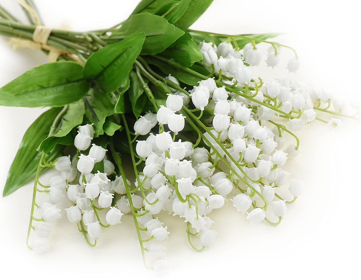 Amazon Fiveseasonstuff 12 Stems Of Artificial White Lily Of The