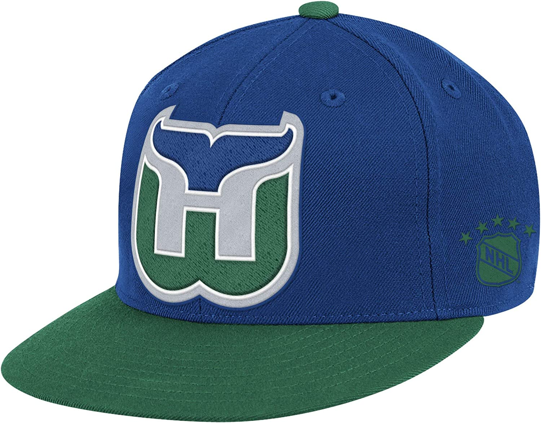 Mitchell & Ness High Crown XLロゴフィット帽子 – NHLフラットビルベースボールキャップ
