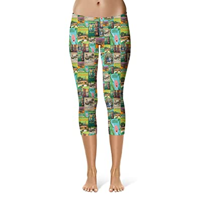 Adventureland Sport Leggings - Capri Length, Mid/High Waist