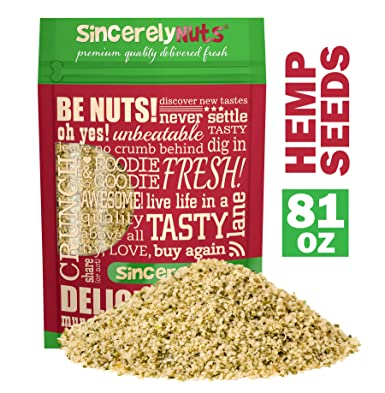 Sincerely Nuts Hulled Hemp Seeds – (5 lb bag) All Natural Super Food | Natures Complete Protein Contains All 9 Essential Amino Acids | Heart Healthy ...
