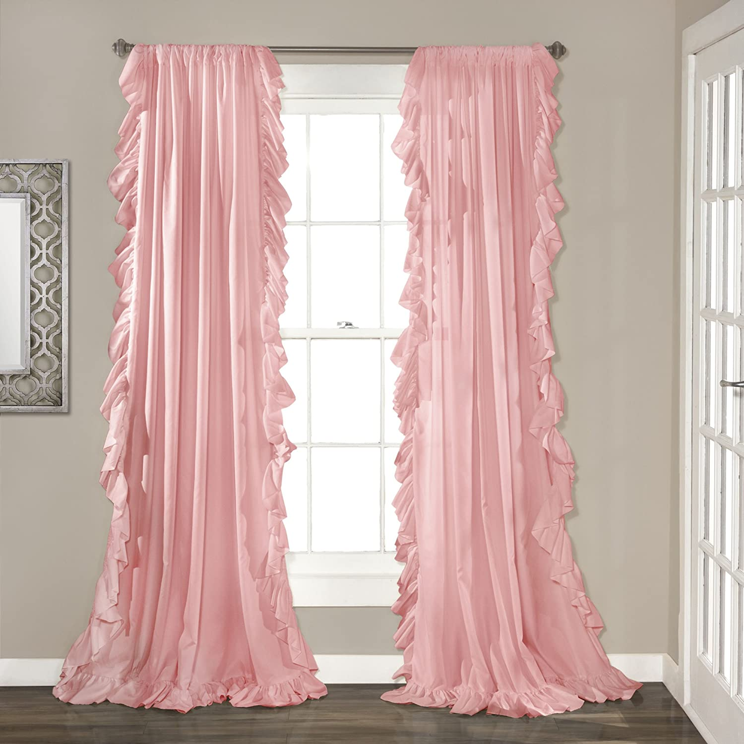 "Amazon Lush Decor Reyna Window Curtain Panel Pair 84"" x 54"