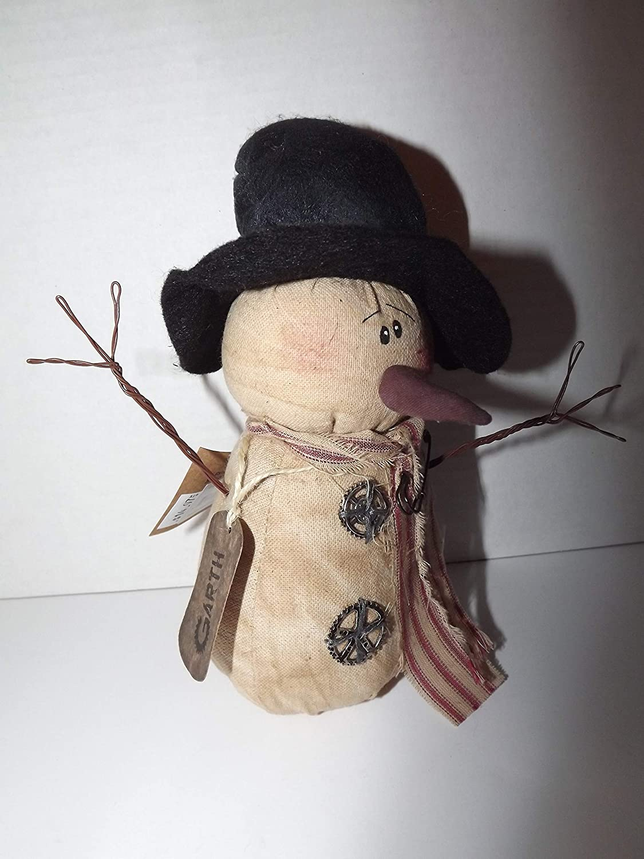 Gear Primitive Fabric Snowman 8-1//2 Tall Honey and Me Garth H