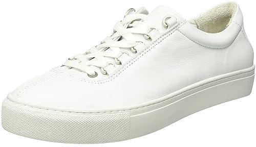 K-Swiss Court Classico, Scarpe da Ginnastica Basse Uomo, Bianco (White/Off White), 47 EU