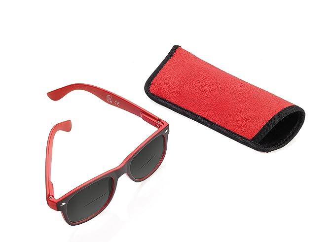 Troika SUN READER – SUN30/RD – Gafas de sol y lectura Gafas de sol y lectura – bifocal – graduación +3,00 dpt – comprobada por TÜV – policarbonato – ...