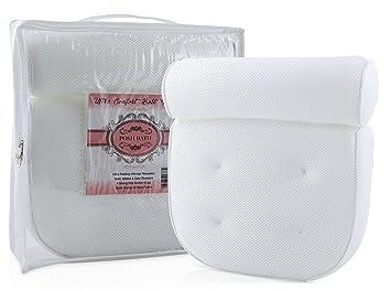 Amazon.com: White Bath Pillows For Tub   Luxury Bathtub Pillow ...