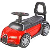 Toy House Foot to Floor Bugatti Push Car for Kids (1 to 3Yrs), Red