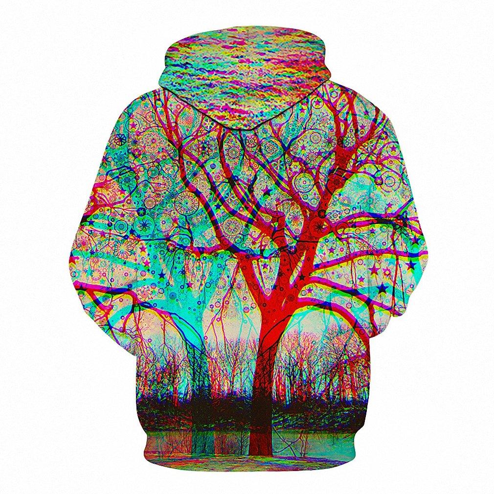 Tree 3D Hoodies Men Sweatshirts Unisex Pullover Novelty Streetwear Tracksuit