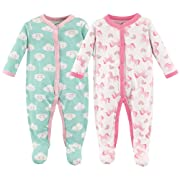 Luvable Friends Cotton Sleep and Play, 2 Pack, Unicorn, 0-3 Months