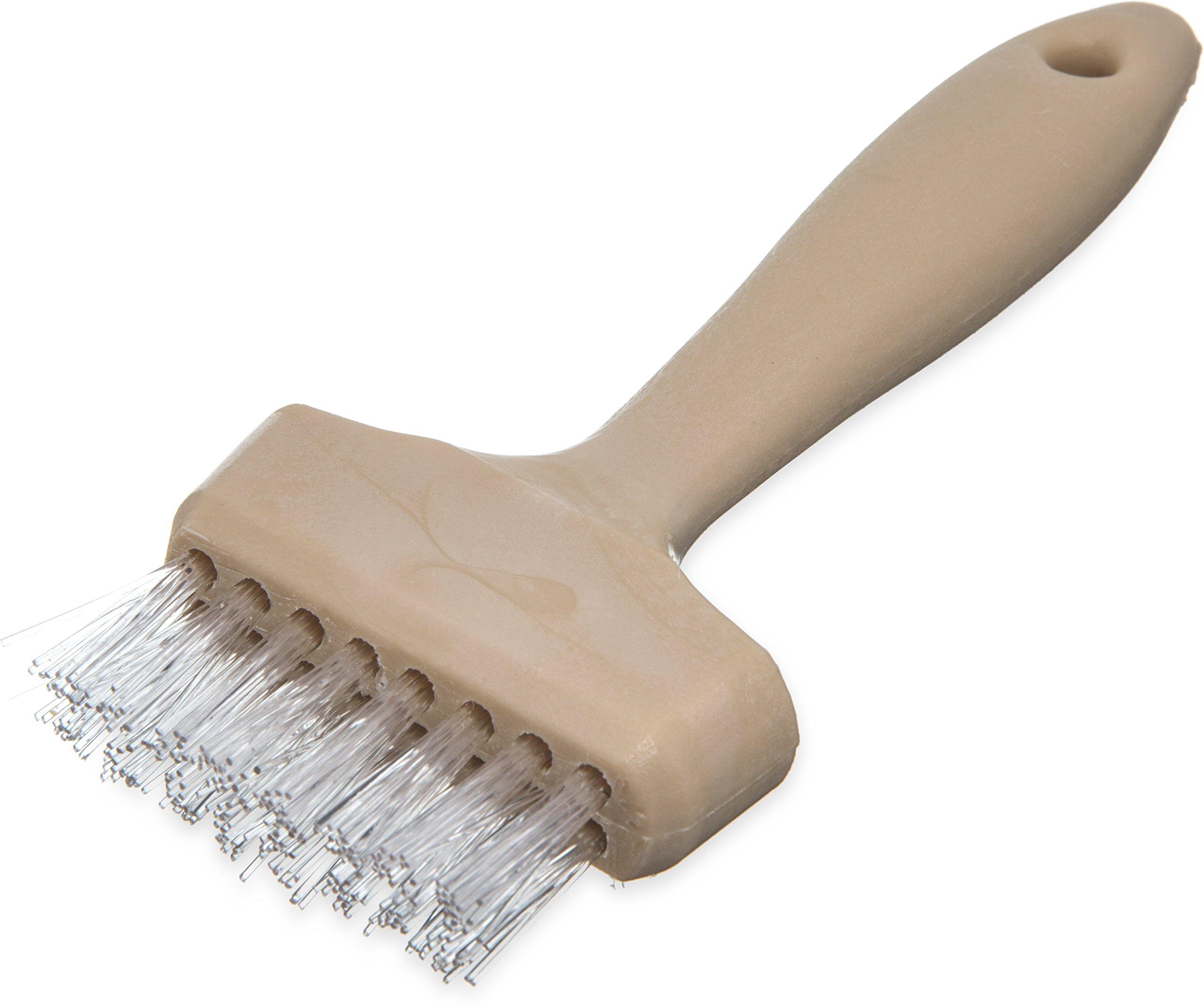 Carlisle 4011400 Wide Waffle Iron Brush, 7'', Teflon