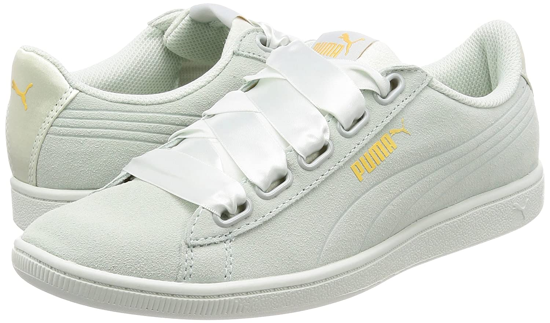 Puma Vikky Ribbon Satin Damen Sneaker Sneaker Damen Blau Flower-Blau Flower d13658
