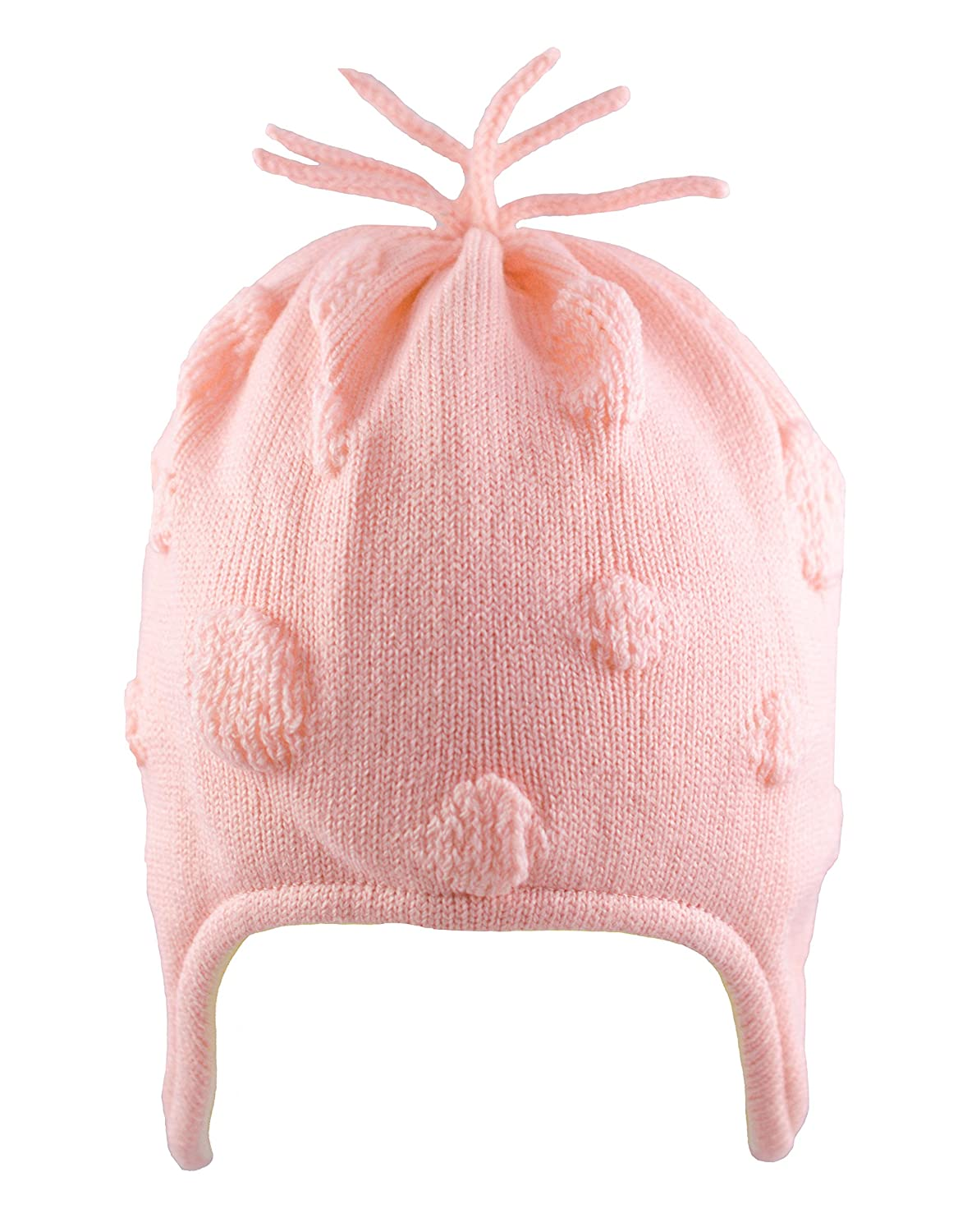 Pex Baby Girls Hat Winter Knitted with Tassels and Bubbles