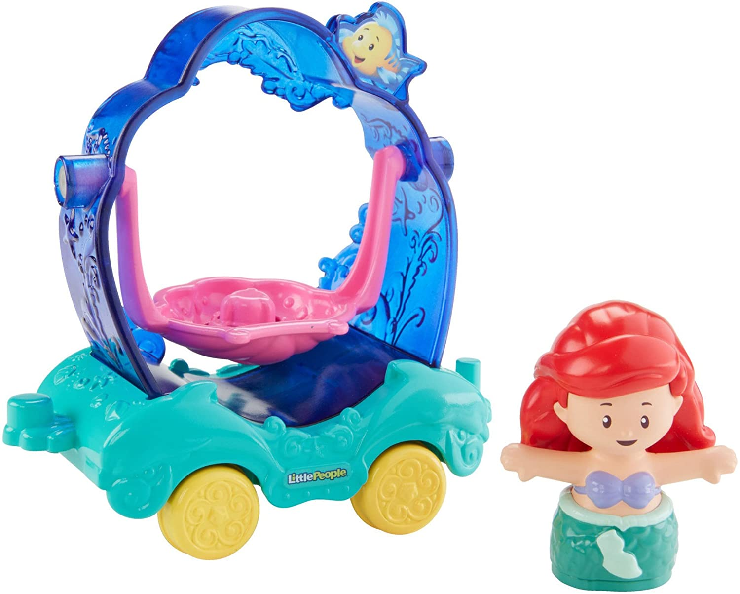 Amazon.com: Fisher-Price Little People Disney Princess, Parade Ariel & Flounders Float: Toys & Games