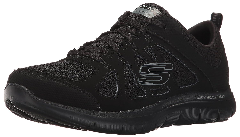 Skechers Sport Women's Flex Appeal 2.0 Simplistic Fashion Sneaker B01EOSTUXG 8.5 B(M) US|Black