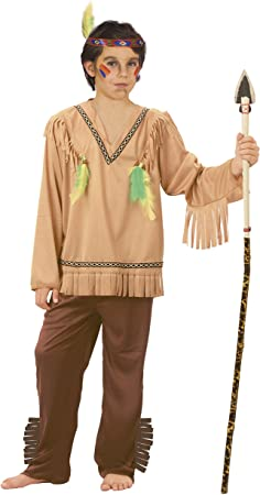 FIORI PAOLO – indio disfraz niño L (7-9 anni) marrón: Amazon.es ...