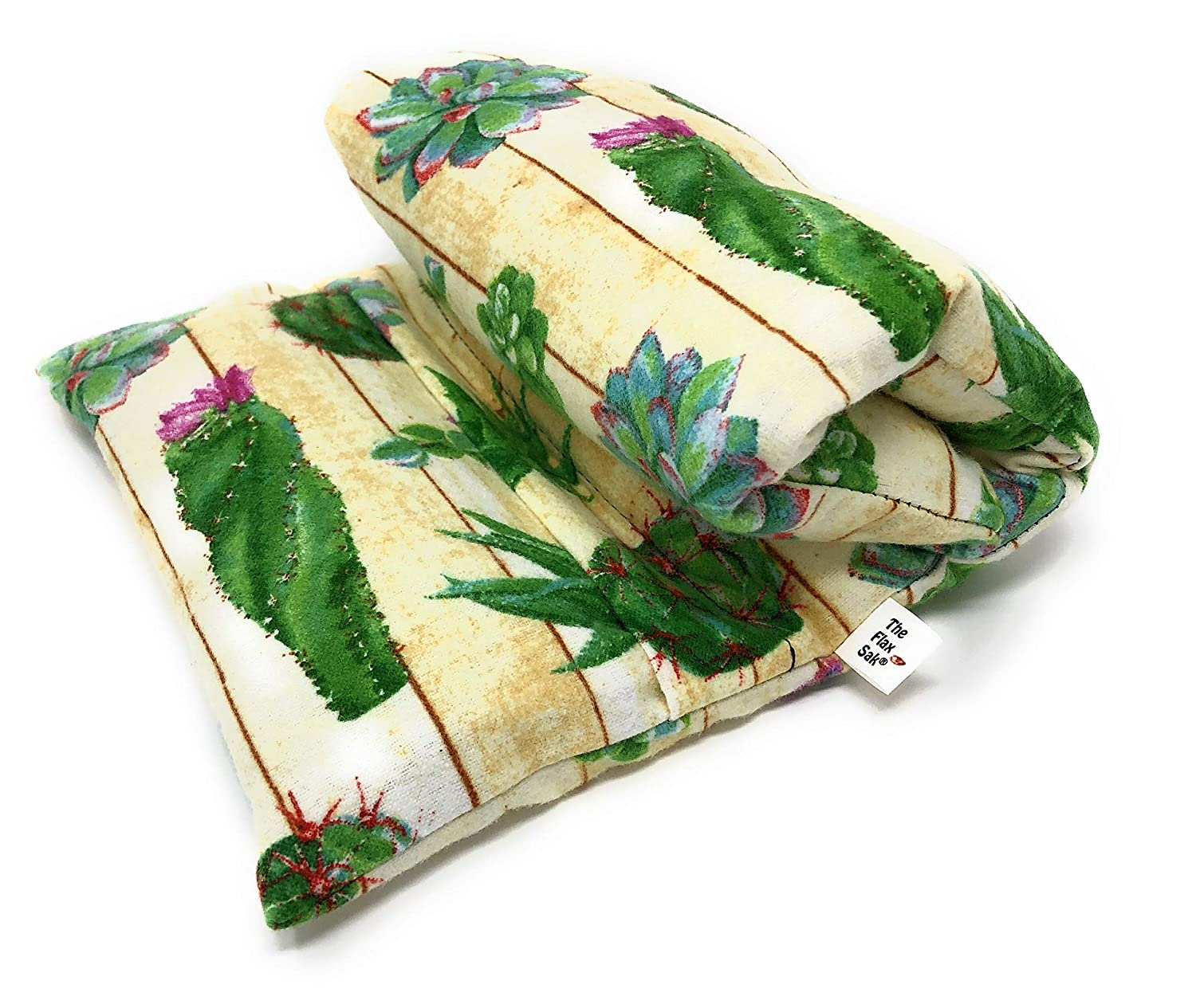 Stomach Cramp Heating Pad | Microwavable | Hot and Cold Packs | Large Lavender | Succulents by Flax Sak