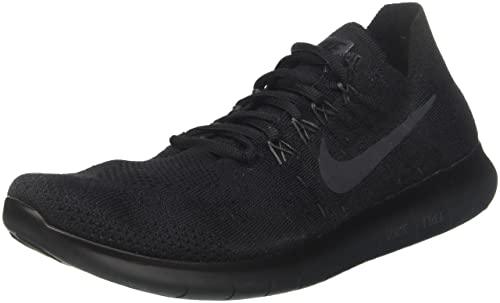 big sale 72505 f4b43 Nike Mens Free Rn Flyknit 2017 Running Shoes, BlackVoltWhite