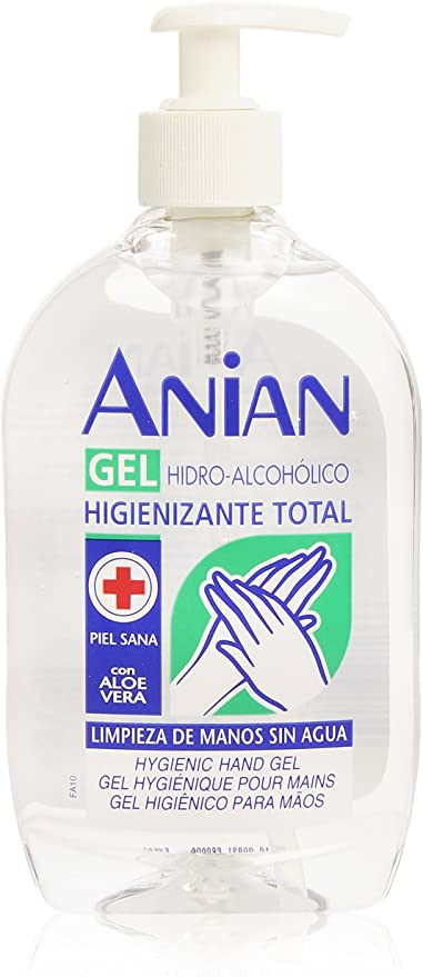Anian - Hidro-Alcohólico Gel de Manos, 500 ml: Amazon.es: Belleza