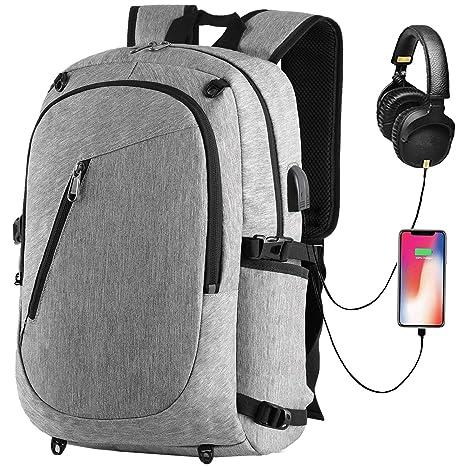 Mochila Antirrobo Impermeable,Mochila de Portátil 15,6 Pulgadas Backpack Multiusos Daypacks para Ordenador