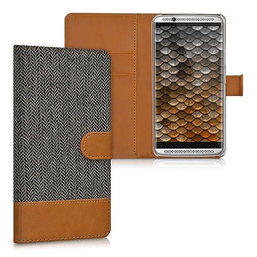 4 opinioni per kwmobile Custodia portafoglio per ZTE Axon 7- Cover in simil pelle a libro Flip