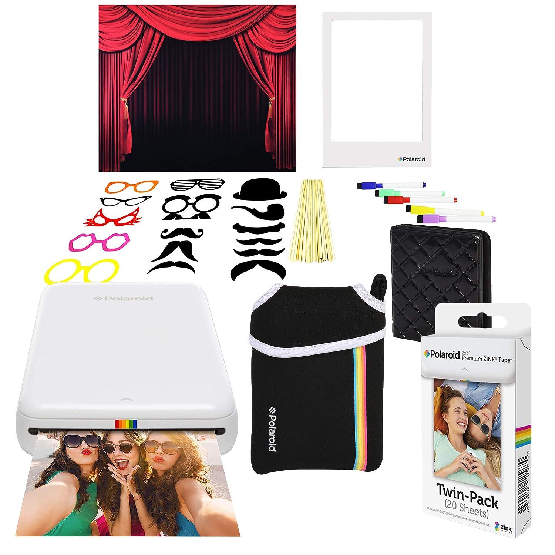 Polaroid Zip Impresora de Fotos Inalámbrica (Blanco) Paquete ...