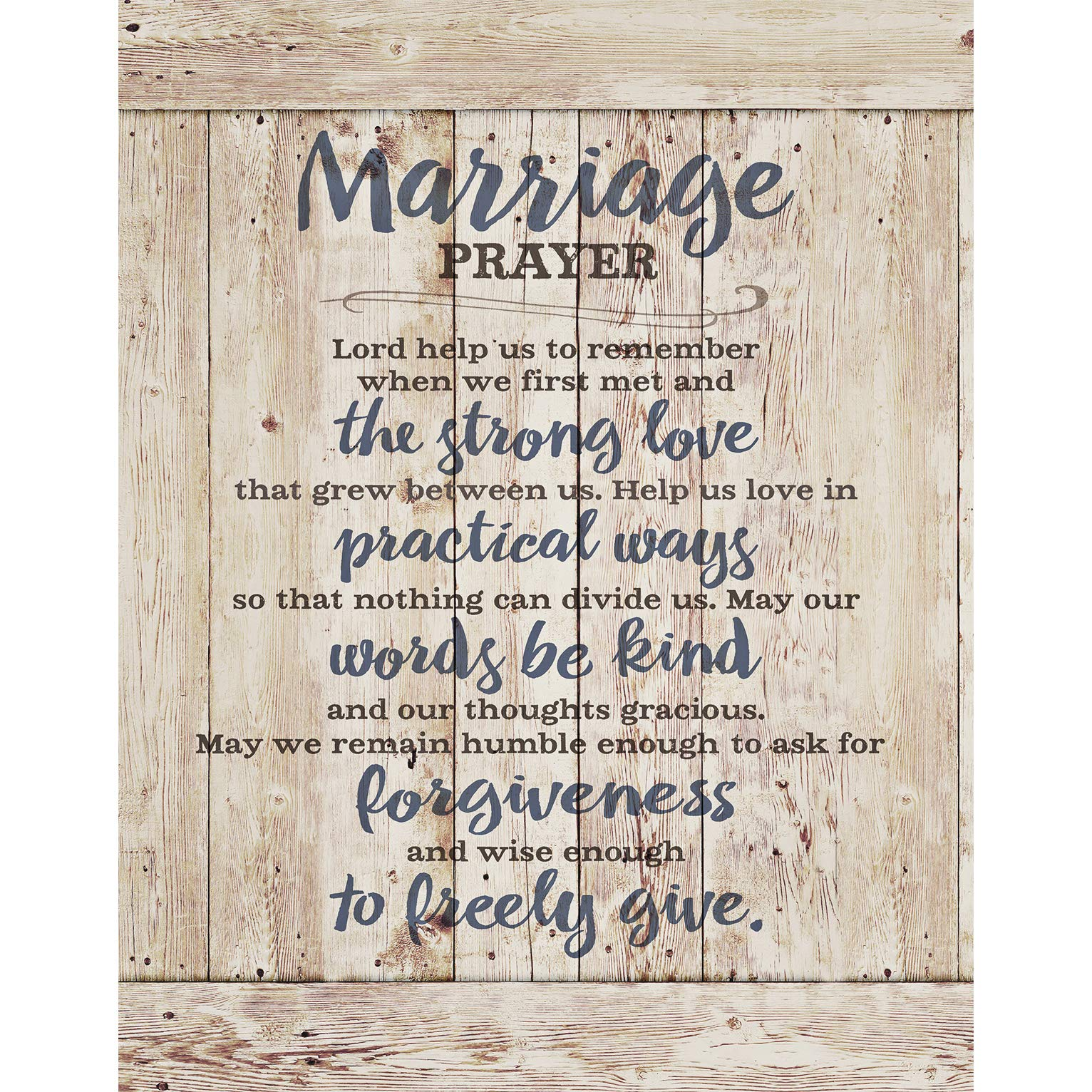 Marriage Prayer Wood Plaque Inspiring Quote 11.75''x15'' - Classy Vertical Frame Wall Hanging Decoration | Lord, Help us to Remember When we First met | Christian Family Religious Home Decor Saying by Dexsa