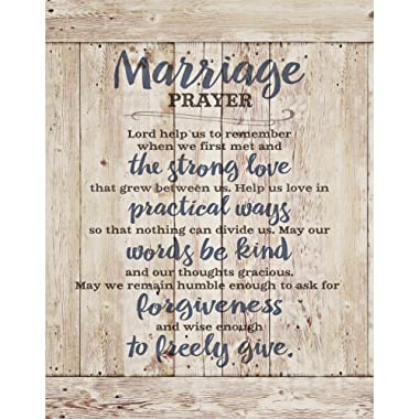 Marriage Prayer Wood Plaque Inspiring Quote 11.75 x15  - Classy Vertical Frame Wall Hanging Decoration   Lord, Help us to Remember When we First met   Christian Family Religious Home Decor Saying