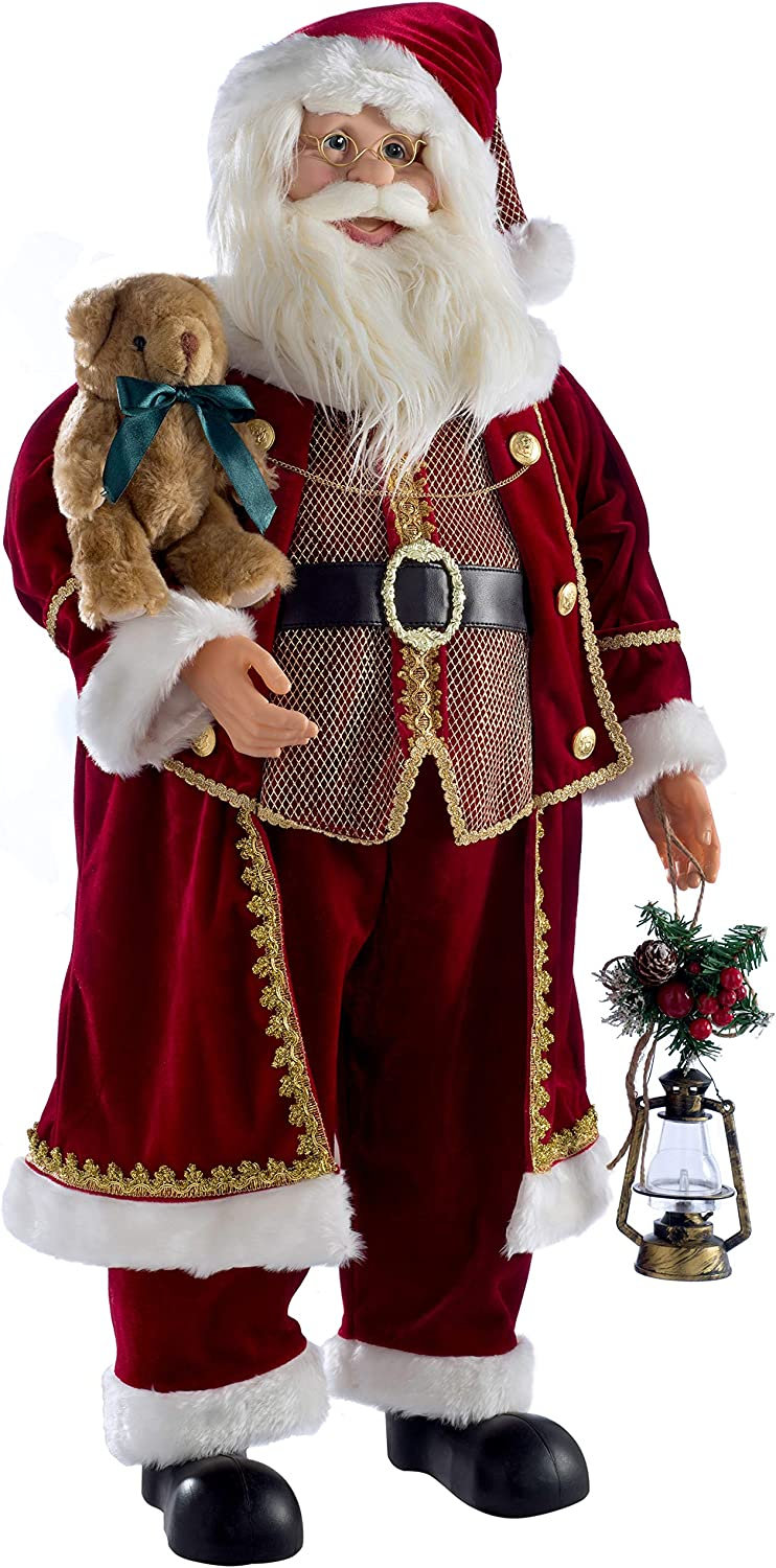Red WeRChristmas Large Standing Santa Christmas Decoration 3 ft//90 cm
