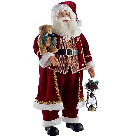 Babbo Natale 90 Cm.Werchristmas Forma Di Babbo Natale Rosso 90 Cm Amazon It Casa E