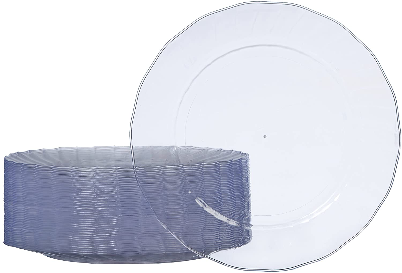 AmazonBasics - Platos de plástico desechables - Pack de 50, 26 cm SSV023