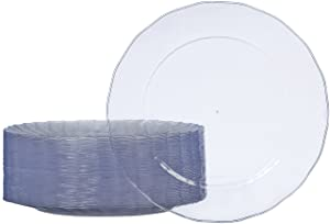 AmazonBasics Disposable Plastic Plates - 50-Pack,10.25-inch