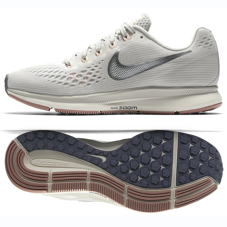 finest selection f12d2 3f350 NIKE WMNS Air Zoom Pegasus 34 880560-004 Light Bone/Chrome/Pale Grey  Women's Running Shoes (7.5)